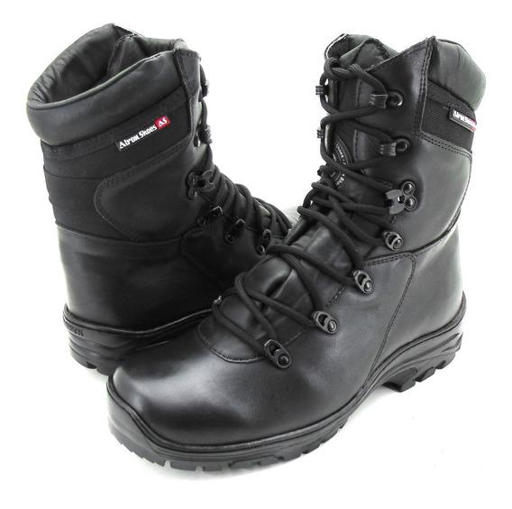 Bota Coturno Tática Atron Shoes Calçados Militar Preto 280