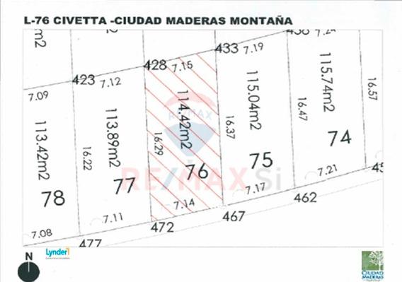 Venta Terreno Ciudad Maderas