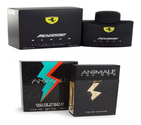 Kit Ferrari Black 125ml Animale For Man 100ml Promoção
