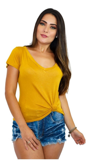 Blusa T Shirt Podrinha Camiseta Decotada Feminina Moda Verãa