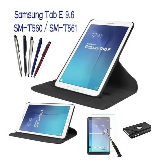 Capa Giratoria Tablet Galaxy Tab E 9.6t560+peli Vidro Caneta