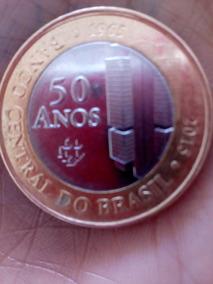 Moeda Comemorativa Banco Central 50 Anos