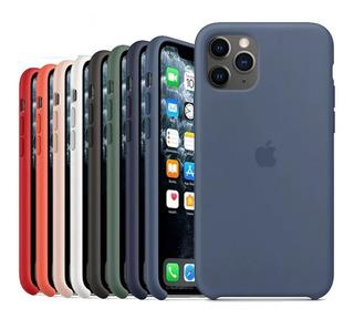 Funda iPhone 11 Pro Max Silicone Case + Vidrio Templado