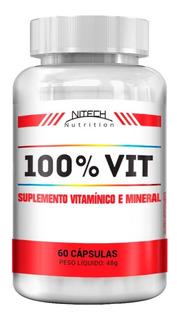 100% Vit - Multivitamínico De A A Z 60 Cápsulas Nitech