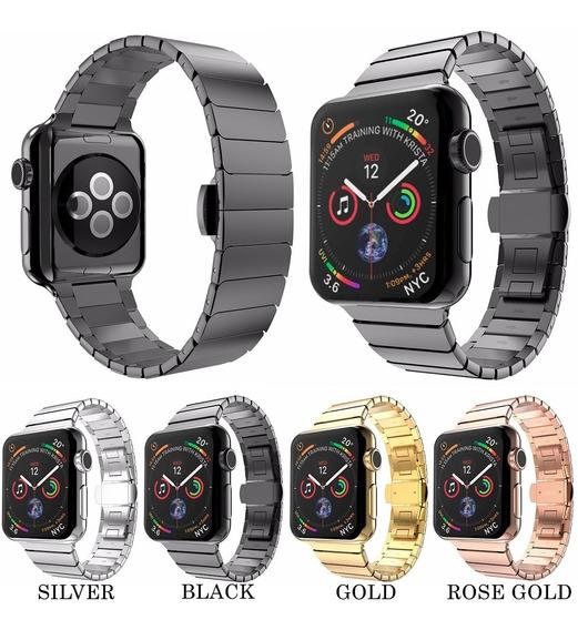 Correa De Eslabones De Lujo Apple Watch Serie 4 + Regalo