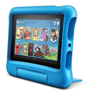 Tablet Amazon Fire 7 Kids Edition 16gb Funda P/niños Celeste