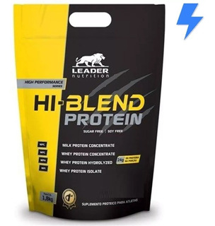 Whey Hi Blend 1.8kg - Leader - Whey Isolado + Hidroli. + Wpc