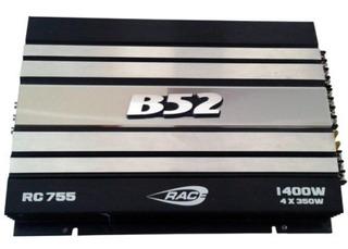 Potencia B52 Rac 755 1400w. 4ch. Nueva !!!