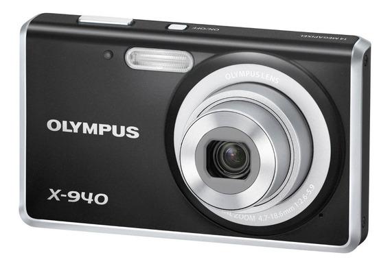 Camera Digital Olympus X-940 14mp Preta + Bateria+carregador