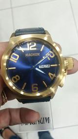 Relógio Masculino Magnum Banhado A Ouro