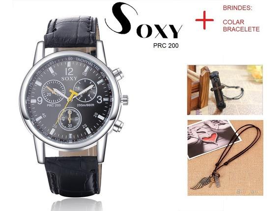 Relógio Social Soxy Prc 200 + 2 Brindes: Colar E Bracelete