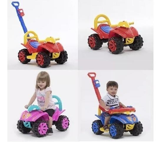 Quadriciclo Infantil Carrinho Com Puxador De Passeio Motoca