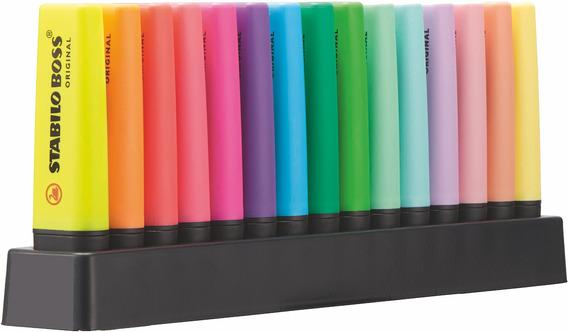 Marca Texto Stabilo Boss Flourecente+pastel Kit 15 Unidades