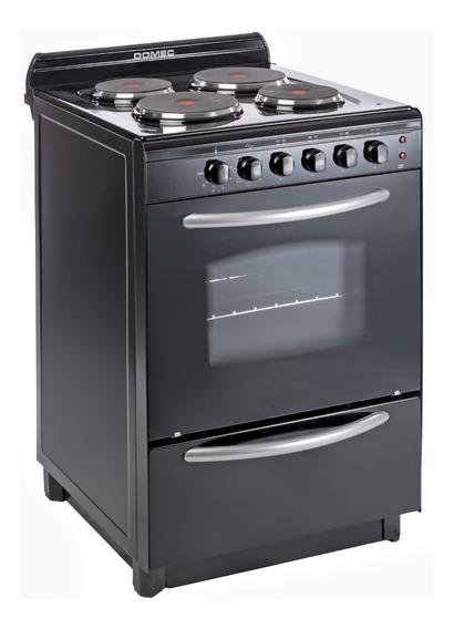 Cocina Domec CENG 4 eléctrica negra puerta visor