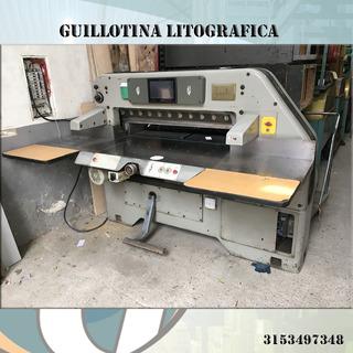 Guillotina Litográfica, Cortadora De Papel Senator 115