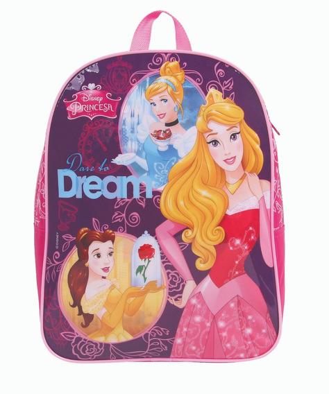 Mochila Escolar De Costas Grande Menina Princesas Disney Dmw