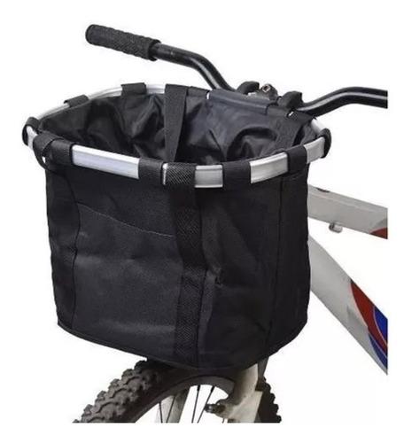 Cesta Cestinha Removivel Bike Pet Compras Aluminio Lona Mtb