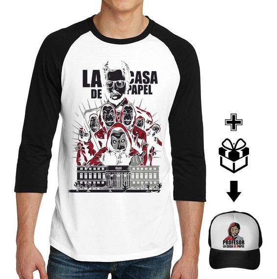 Playera La Casa De Papel + Gorra Gratis