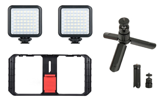Estabilizador Celular U-rig Pro + 2 Led + Mini Tripé Kit Filmagem Com Celular
