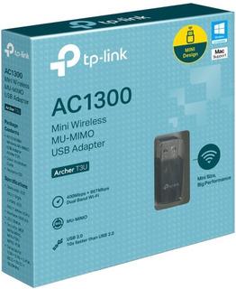 Adaptador Wifi Tp Link Archer T3u Ac1300 Mu-mimo Dual Usb