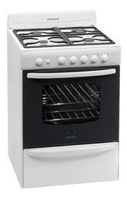 Cocina A Gas Longvie 18601bf 60cm Blanca Encendido Una Mano