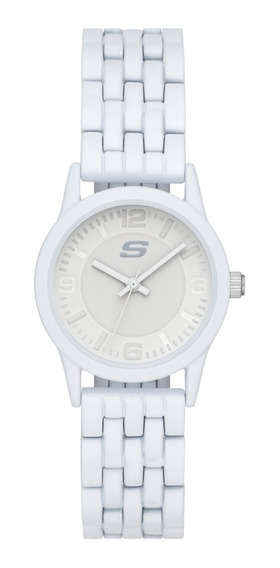 Reloj Dama Skechers Rosencrans Sr6190 Color Blanco Aleacion