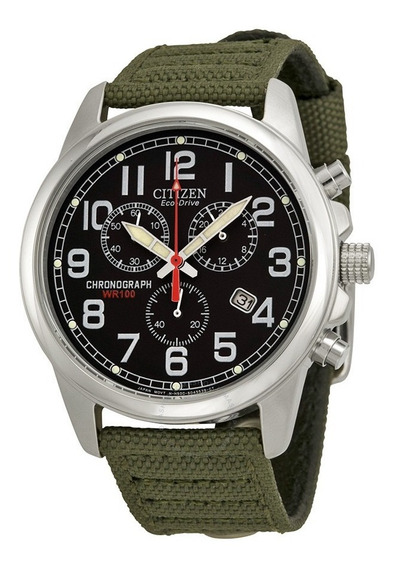 Relógio Citizen Eco Drive At0200-05e/ Tz20644t Militar + Nf