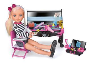 Muñeca Nancy Un Dia En Hollywood Con Tocador Y Accesorios