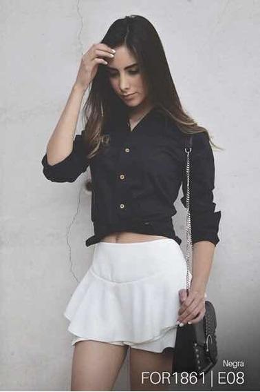 Camisa Fortrop, For1861, Negra