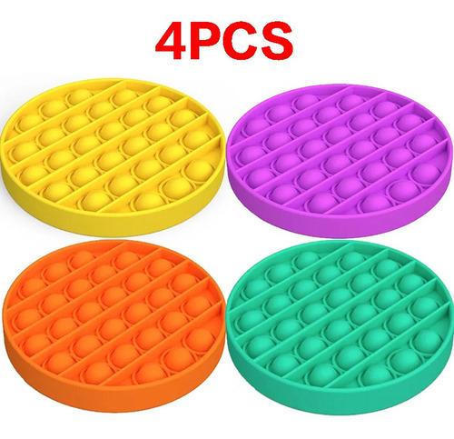 Imagem 1 de 8 de Kit Pop It Fidget Push Toy Sensorial, 4pcs