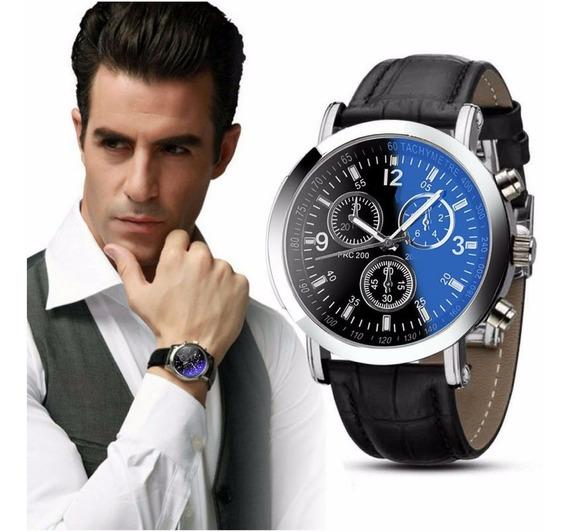 Relógio Masculino Geneva Analógico Social Couro Preço Baixo