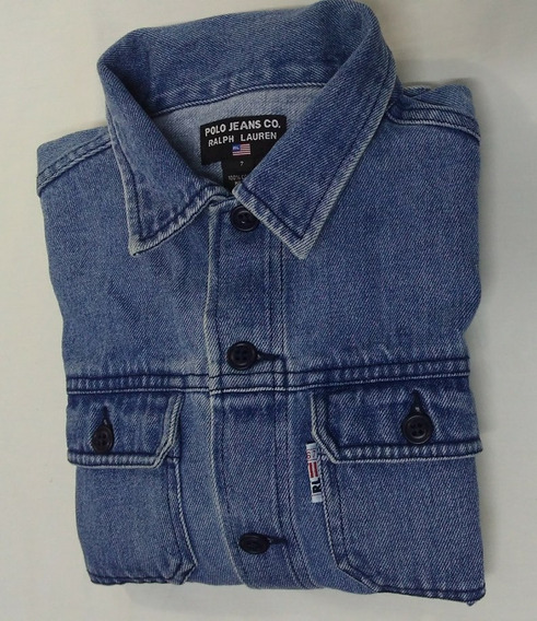 Jaqueta Jeans Ralph Lauren Tamanho 7 Para Menino Ou Menina