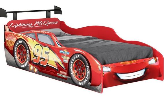 Cama Infantil Carros Disney C/ Aerofólio Vermelha Pura Magia
