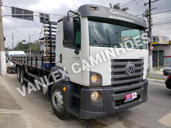 Vw 24280 6x2 Com Ar Baixo Km Carroceria Ñ Atego 2426 24250