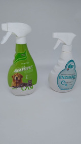 Kit Educador Afaste Pet Forte + Enzimac Eliminador De Odores