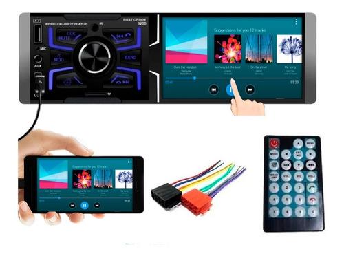 Central Multimidia Mp5 Espelhamento Usb 1 Din Touch Screen