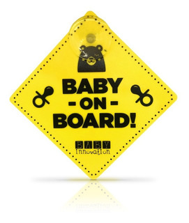 Baby On Board Cartel Con Sopapa Para Auto - Baby Innovation