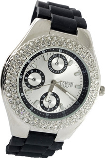 Reloj Mujer Caucho Plateado Con Strass Lemon L1074/rg