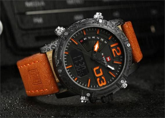 Relógio Naviforce Estilo Militar Luxo Modelo Nf9095