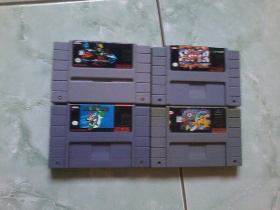Lote De 4 Jogos Super Nintendo Mario Killer Super Street E +