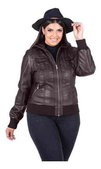 Jaqueta Plus Size Couro Inverno Frio Extremo C/capuz P Ao G4