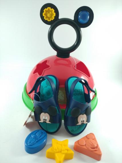 Kit Infantil + Brinquedo Chinelo Slide Confortável Pronta