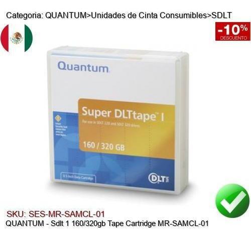 Imagen 1 de 1 de Quantum Sdlt 1 160/320gb Cinta Respaldo Mr-samcl-01