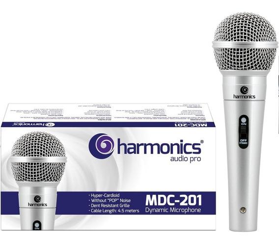 Microfone Dinâmico Mdc201 Harmonics Prata Oferta! Promoção!