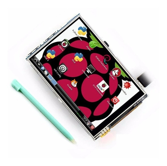 Tela Raspberry Lcd 3.5 Touch Pi2 Pi3 Tft Pi 2 E 3 + Caneta
