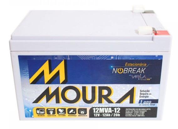 Kit 4 Baterias Moura 12ah 12v Bike Elétrica/no Break/alarme