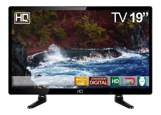 Tv Led 19 Hq Conversor Digital Hqtv19 Hdmi Usb Presídio