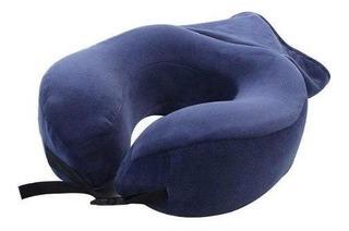 Cojin Cervical Y Almohada Con Memory Foam 2 En 1 Azul