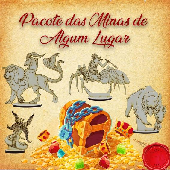 Pacote Das Minas De Algum Lugar - Miniaturas Rpg