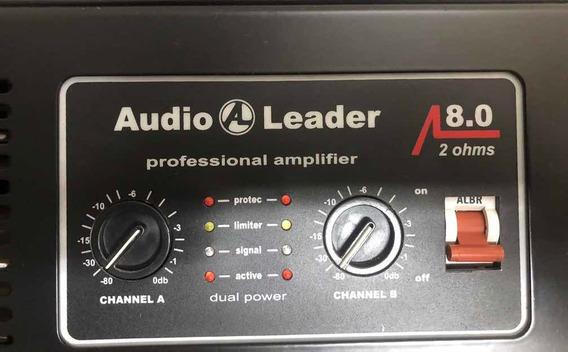 Potência Amplificador Audio Leader 8.0 2 Ohns